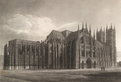 North-east view of the Abbey Church of Saint Peter, Westminster